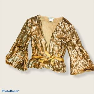 Gold cardigan